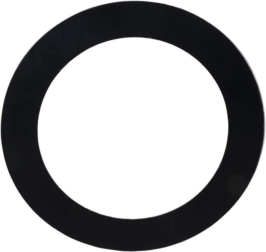 Lovermusic5 Inch Plastic Drum Head Port Hole Ring Protector Black for Bass Drum Percussion
