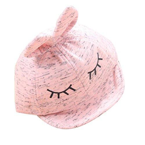 - Botrong Cotton Blend Baby Beanie For Boys Girls Rabbit Ear Hat Children Hats (Pink)