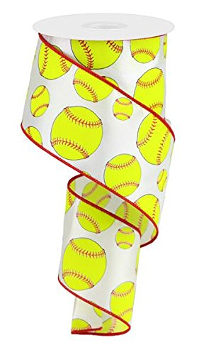 Expressions Softball Wired Edge Ribbon - 10 yards (2.5