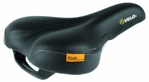 Velo Women's Plush Tour E-Grip Saddle Black [並行輸入品] B075K1SPJT