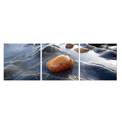 (Furinno Senia Rock 3-Panel MDF Framed Photography Triptych Print, 48