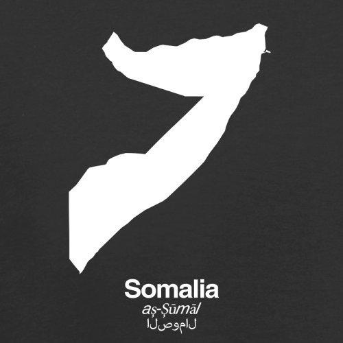 Somalia / Bundesrepublik Somalia Silhouette - Herren T-Shirt - Schwarz - S
