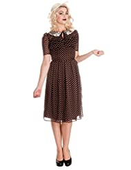 Hell Bunny Cynthia 40s 50s Landgirl Retro Polka Dot Vintage Dress