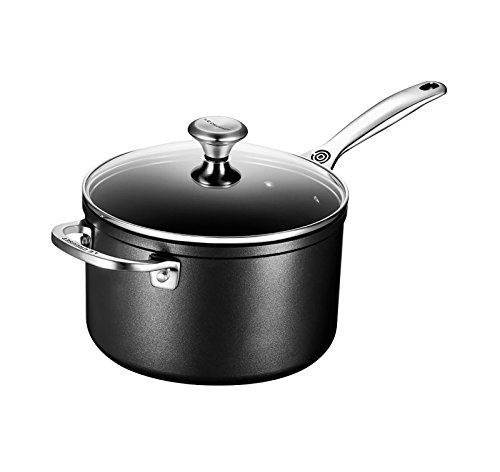Le Creuset of America Toughened NonStick Saucepan with Lid, 4 quart