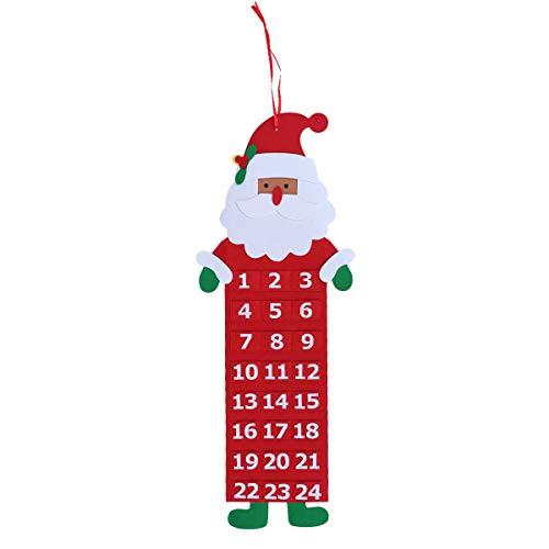 Vosarea Navidad anciano Hombre de la nieve Papá Noel Ciervo Venado Calendario Adviento Cuenta regresiva Elk Tarjeta de...
