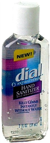 Dial Hand Sanitizer Antibacterial 2 Oz. Kills 99.99% Of Germs Instantly Citrus Scent Bottle ()