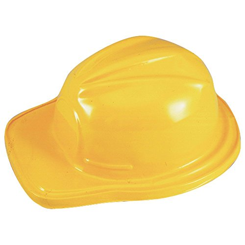 Adult Novelty Cap - Plastic Adult Size Construction Helmets Hats (12 Per Package)