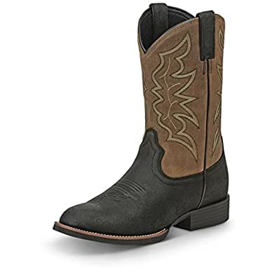 Amazon Com Justin Western Boots Mens Stampede Buster 9