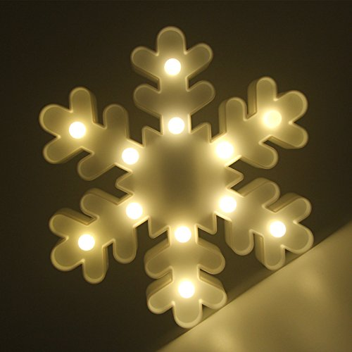 レッドフラミンゴ装飾LEDライト、amzstar Valentine Romance Atmosphereライト、パーティーウェディング誕生日パーティー装飾Kids ' Room電池式LED夜間ライト AMZSTAR B06XDFLC85 12575 スノーフレーク スノーフレーク