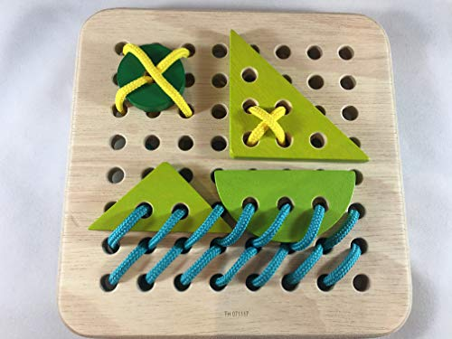 PT Creations Fidget Activity for Alzheimer's Dementia & Memory Loss - Restless Hands Wooden Lacing Block by PT Creations (Image #5)