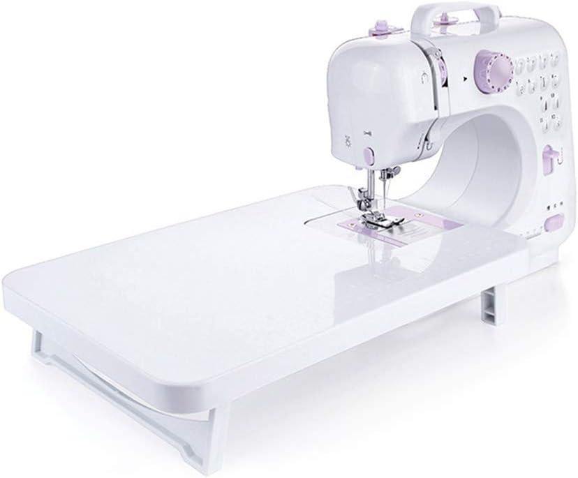 Mini máquina de coser Poxcap con mesa extensible Craftsman ajustable portátil que repara la versión de actualización del pedal para principiantes en el hogar