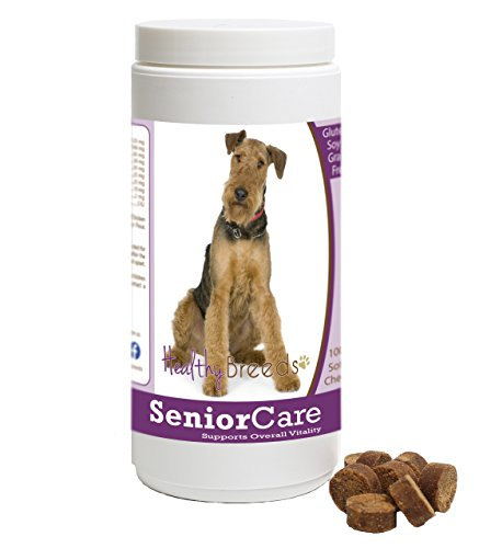 Healthy Breeds Dog Senior Vitamin Soft Chews for Airedale Terrier  - OVER 100 BREEDS - Grain Free - Supports Healthy Hip & Joint Energy Levels & Immune System - 100 Chews