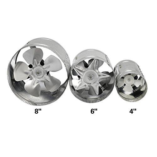 6 Duct Booster Fans Quiet : Vivosun inch inline duct booster fan cfm low noise
