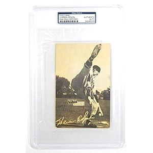 1954 56 Spic And Span Warren Spahn Autographed Signed Postcard Memorabilia PSA/DNA Auto Slabbed