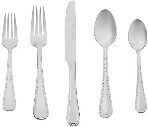 AmazonBasics 65-Piece Stainless Steel Flatware Set