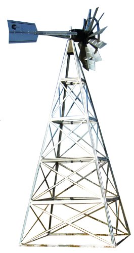 Outdoor Water Solutions AWS0146 20-Feet Galvanized 4-Legged Aeration System Windmill