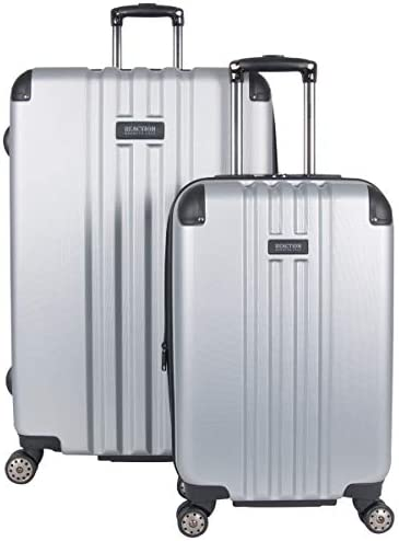 """Kenneth Cole Reaction Reverb Hardside Expandable 8-Wheel Spinner 2-Piece Luggage Set; 20"""" Carry-on, 29"""", Light Silver"""