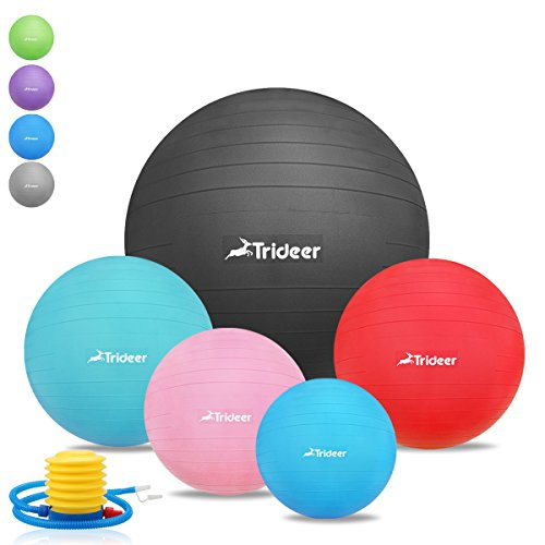 45cm bis 85cm dick anti burst gymnastikball inklusive ballpumpe trideer 2000lbs. Black Bedroom Furniture Sets. Home Design Ideas