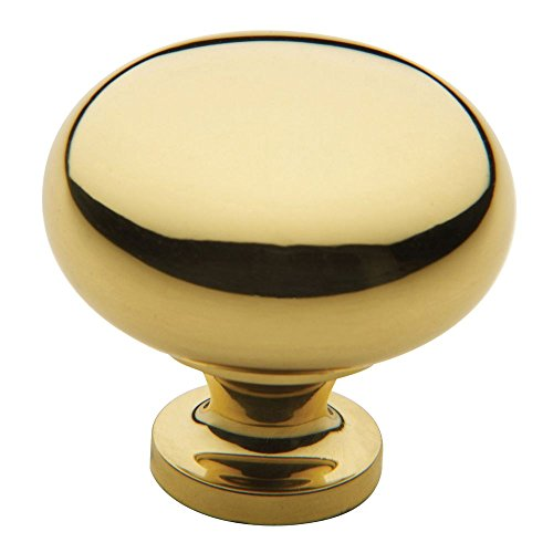 Baldwin 4708.030.BIN Classic Design 1-1/2-Inch Diameter Cabinet Knob, Polished Brass - Lacquered