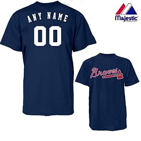 c10f3d7e7 Majestic Athletic Atlanta Braves Personalized Custom (Add Name   Number)  ADULT 2XL 100%