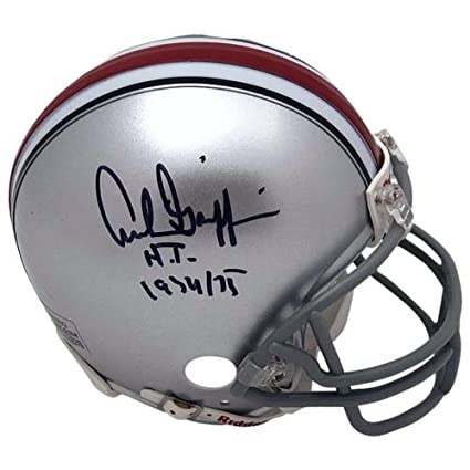 5540450ce95 Archie Griffin Autographed Ohio State Buckeyes Silver Riddell Mini Helmet -  H.T. 1974 75 Inscription