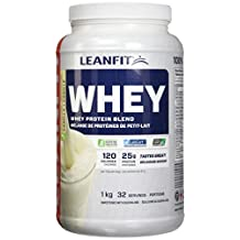 LeanFit 100% Whey Protein with Whey Isolate, Natural Vanilla Flavour, Gluten-Free, 1 Kg