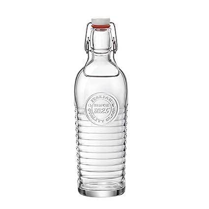 Estilo clásico cristal transparente con tapón de botella de vidrio sin plomo, botella sellada,
