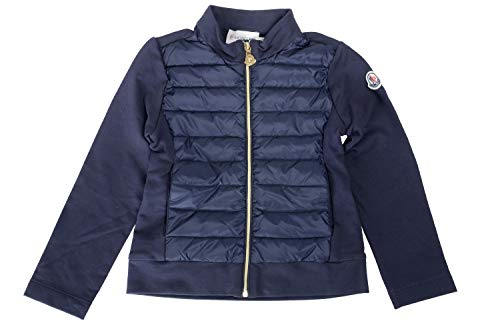 Moncler Kid's Blue Full Zip Sweater Parka Jacket Moncler Sz 4A ()
