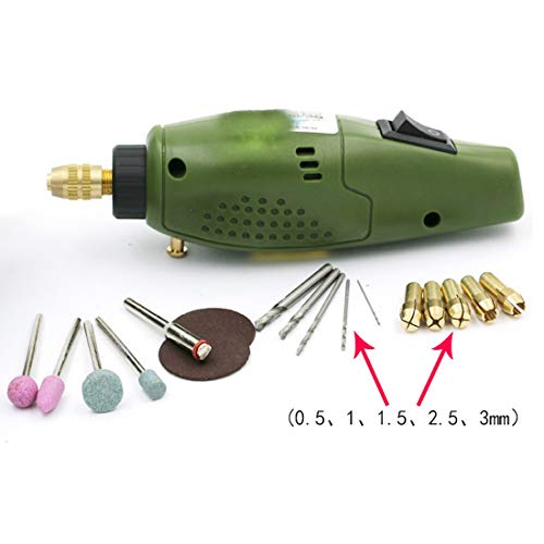ILLIO Good 1set Electric Grinder Mini Drill Grinding Set 12V DC Accessories Tool for Milling Polishing Drilling Cutting Engraving ()