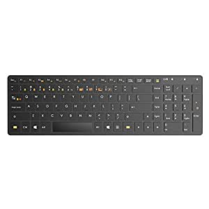 Satechi Bluetooth Wireless Smart Keyboard with 5-Device Sync for Windows XP/Vista/7/8 and Samsung Android Devices (Black (Windows))