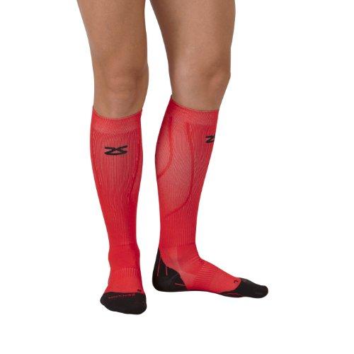 Zensah Tech+ Compression Socks, Red, Small