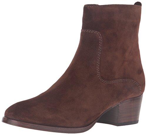FRYE Women's Clara Zip Short Suede Boot, Brown, 7.5 M (Brown Suede Zip)