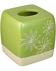 Popular Bath Daisy Stitch Tissue Box, Lime