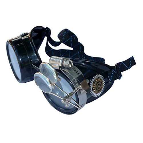 Steampunk Goggles Victorian Novelty Glasses BBB Clear1