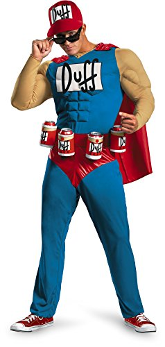 Tv Character Costumes For Men (Disguise Unisex Adult Classic Muscle Duffman, Multi, X-Large (42-46) Costume)