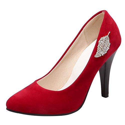 Carolbar Women's Sexy Elegant High Heel Rhinestones Stiletto Dress Shoes Red E1U7yDcsDY