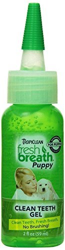 TropiClean Fresh Breath Puppy Clean Teeth Gel Oral Care for Pet Dogs 2oz.
