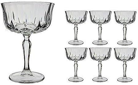 RCR Crystal for Fittings Gifts 25044020006 - Set de Copas para Champagne (6 Unidades, Capacidad 24 cl)
