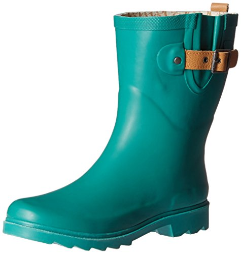 Chooka Women's Mid-Height Rain Boot, Jade, 7 M US