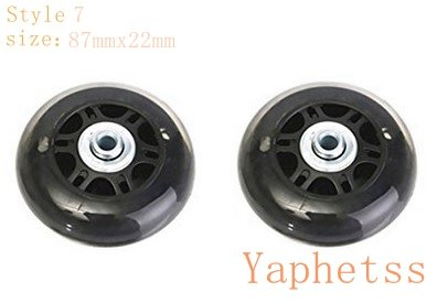 - Yaphetss 1 Pair Luggage Suitcase Replacement Rubber Wheels (Style 7, 87mmx22mm)(Transparent)