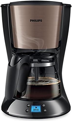 Philips Daily Collection HD7459/71 - Cafetera (Independiente, Cafetera de filtro, 1,2 L, De café molido, 1000 W, Negro, Cobre): Amazon.es: Hogar