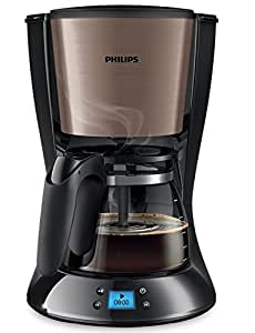 Philips Daily Collection HD7459/71 - Cafetera (Independiente, Cafetera de filtro, 1,2 L, De café molido, 1000 W, Negro, Cobre)