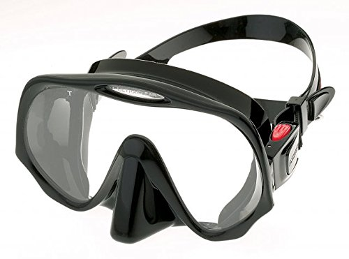 Atomic Aquatics Frameless Mask for Scuba Diving and Snorkeling, Black, Medium Fit