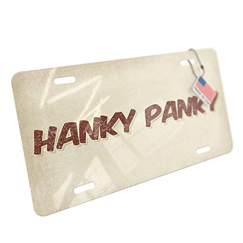 - NEONBLOND Hanky Panky Cocktail, Vintage Style Aluminum License Plate