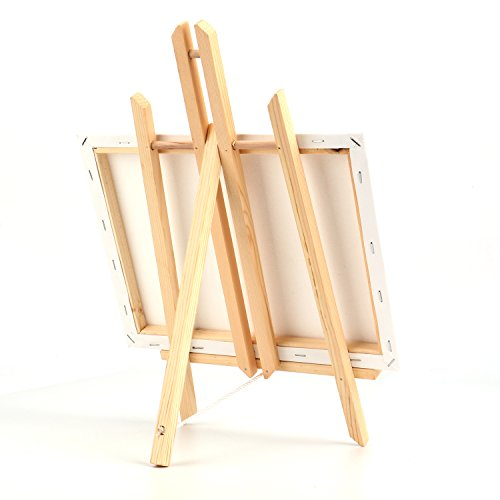 """Tosnail 12"""" x 9"""" Canvas & 16"""" x 9"""" Easel Set Painting Craft Drawing Art Decoration Sets"""