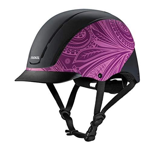 TROXEL SPIRIT Purple Boho ♦ #1 Equestrian Riding Adjustable Helmet ♦ ASTM/SEI Certification (Small)