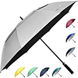 ZEKAR 62' & 68' Windproof Large Vented Canopy Golf Umbrella, UPF 50+ Patio Umbrella | Sun UV Protection | Keep You Cool