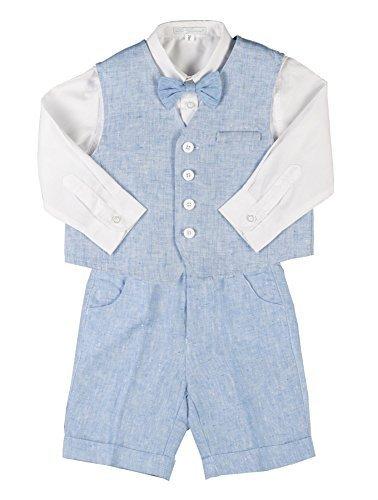 Les Gamins, Traje para Bebés, Azul Claro Traje con Camisa Blanca ...