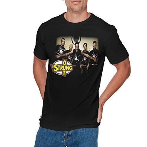 CHELSEA PARKINSON Mens Classic Strung Out T-Shirt XXL Black