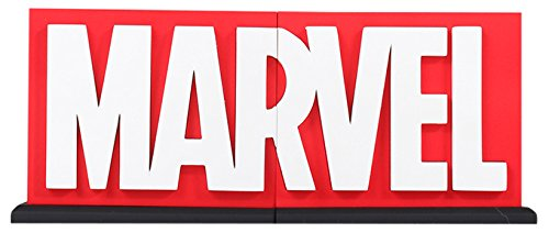 (MARVEL Logo Bookends Statue)
